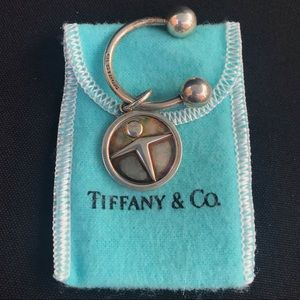 Authentic Tiffany&co 925 sterling  key chain